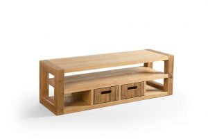 Taaskasutatud puidust keskmine TV-laud