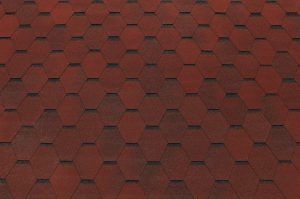 Bituumensindel katus - Hexagonal punane