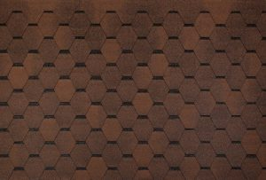 Bituumensindel katus - Hexagonal pruun