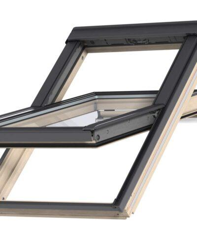 VELUX Premium katuseaken. Puitaken, ülalt avatav (käepide üleval). 3-kordse klaaspaketiga.