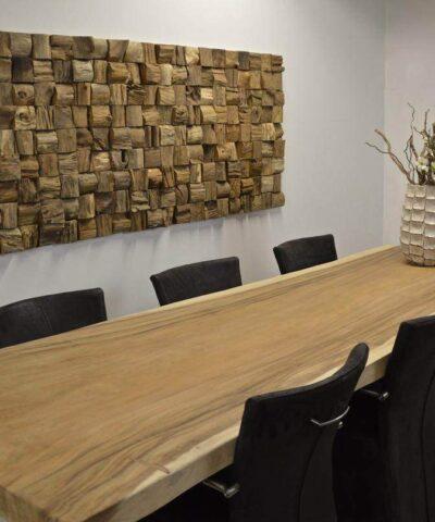 Dekoratiivne puidust seinapaneel QUBOW