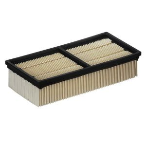 Flat-pleated filter packaged