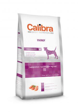 Calibra dog EN Energy Chicken & Rice - Kõrgekvaliteediline koeratoit aktiivsetele või alakaalulistele täiskasvanud koertele