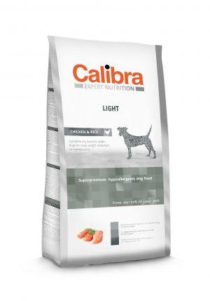 Calibra dog EN Light Chicken & Rice - Kõrgekvaliteediline koeratoit ülekaalulistele või optimaalkaalu säilitavatele täiskasvanud koertele