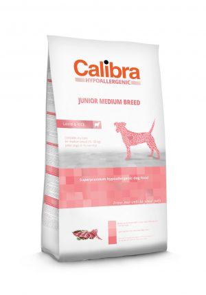 Calibra dog HA Junior Medium breed Lamb & Rice - Kõrgekvaliteediline toit kasvueas koertele