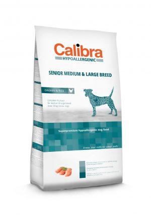 Calibra dog HA Senior Medium & Large breed Chicken & Rice - Kõrgekvaliteediline koeratoit vanadele koertele