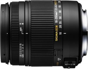 Sigma 18-250mm f/3.5-6.3 DC OS Macro HSM objektiiv Nikonile
