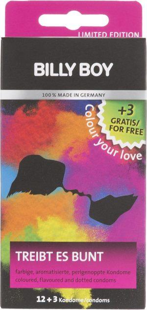 Billy Boy kondoom Colour Your Love 12+3