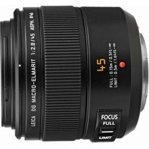 Panasonic Leica DG Macro-Elmarit 45mm f/2.8 ASPH MEGA O.I.S. objektiiv, must