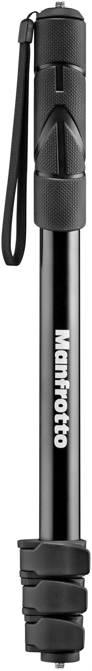 Manfrotto üksjalg-käsistatiiv MPCOMPACT-BK, must