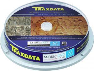 Traxdata DVD-M Archival 4,7GB 4x 10tk tornis