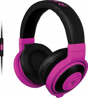 Razer kõrvaklapid + mikrofon Kraken Mobile, lilla