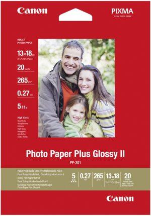 Canon fotopaber 13x18 265g Glossy 20 lehte (PP-201)
