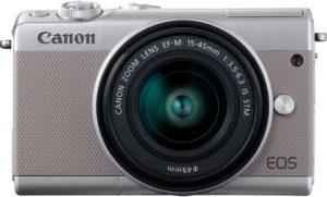 Canon EOS M100 + EF-M 15-45mm IS STM, hõbedane