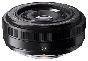 Fujinon XF 27mm f/2.8 objektiiv, must