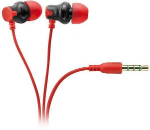Vivanco kõrvaklapid + mikrofon HS 100 RE, punane (31434)