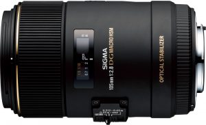Sigma 105mm f/2.8 EX DG OS HSM Macro objektiiv Nikonile