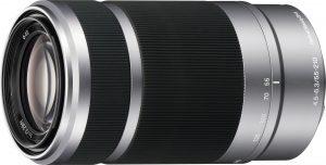 Sony E 55-210mm f/4.5-6.3 OSS objektiiv, hõbedane