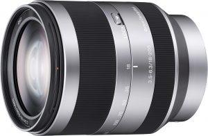 Sony E 18-200mm f/3.5-6.3 OSS objektiiv, hõbedane