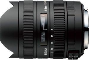 Sigma 8-16mm f/4.5-5.6 DC HSM objektiiv Canonile