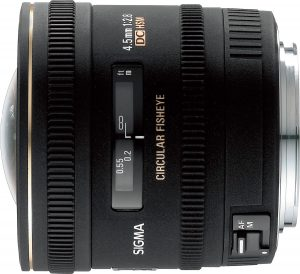 Sigma 4.5mm f/2.8 EX DC Circular Fisheye objektiiv Nikonile
