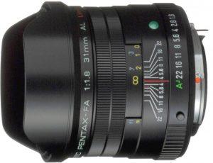 smc Pentax FA 31mm f/1.8 AL Limited objektiiv, must