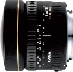 Sigma 8mm f/3.5 EX DG Circular Fisheye objektiiv Canonile