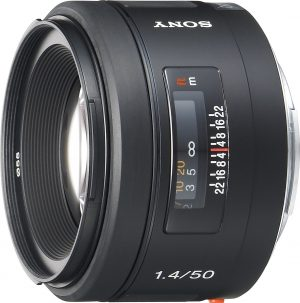 Sony 50mm f/1.4 objektiiv