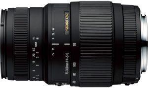 Sigma 70-300mm f/4-5.6 DG Macro objektiiv Canonile