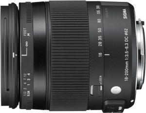 Sigma 18-200mm f/3.5-6.3 DC OS HSM Contemporary objektiiv Canonile