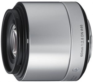 Sigma 60mm f/2.8 DN Art objektiiv Sonyle, hõbe