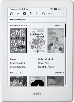 Amazon Kindle Touchscreen WiFi 2016, valge