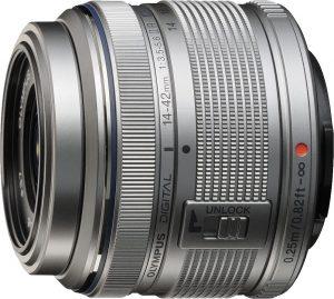 M.Zuiko Digital ED 14-42mm f/3.5-5.6 II R objektiiv, hõbedane