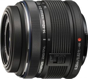 M.Zuiko Digital ED 14-42mm f/3.5-5.6 II R objektiiv, must
