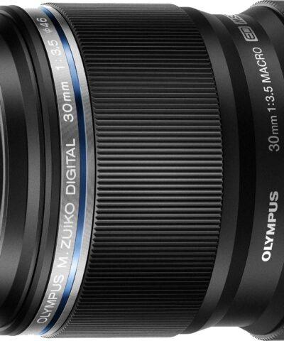 M.Zuiko Digital ED 30mm f/3.5 Macro objektiiv, must