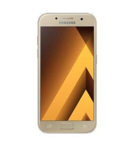"Smartphone | SAMSUNG | Galaxy A3 (2017) | 16 GB | Gold | 3G | LTE | OS Android 6.0 | Screen  4.7"" | 720 x 1280 | Super AMOLED | Single SIM | 1xUSB type C | 1xHeadphones jack | 1xNano-SIM card tray | Camera 13MP | 8MP | Fingerprint reader | Battery 2350 mAh | SM-A320FZDNETL"