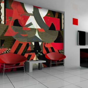Fototapeet - Art composition in red