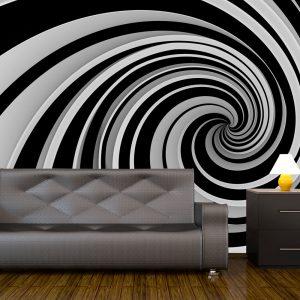 Fototapeet - Black and white swirl