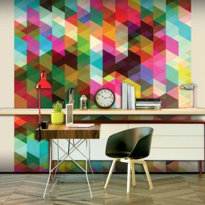 Fototapeet - Colourful Geometry