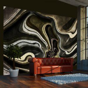 Fototapeet - Green and brown textured fractal