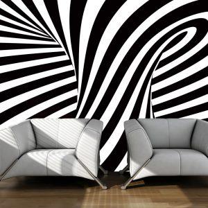 Fototapeet - optical art: black and white