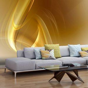 Fototapeet - Gold fractal background