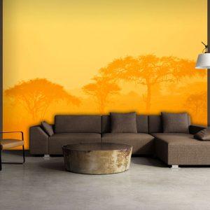 Fototapeet - Orange savanna