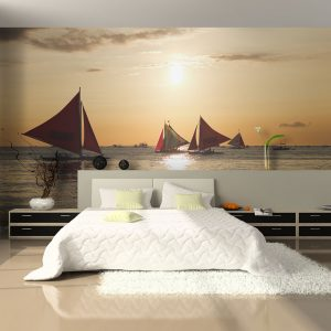 Fototapeet - sailing boats - sunset