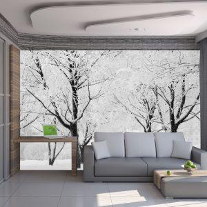 Fototapeet - Trees - winter landscape