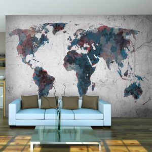 Fototapeet - World map on the wall