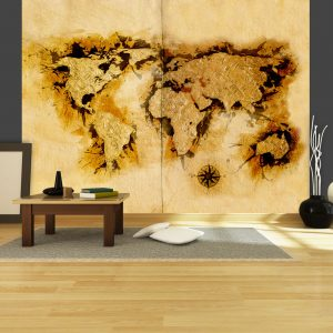 Fototapeet - Gold-diggers' map of the World