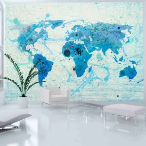 Fototapeet - Cruising and sailing -  The World map