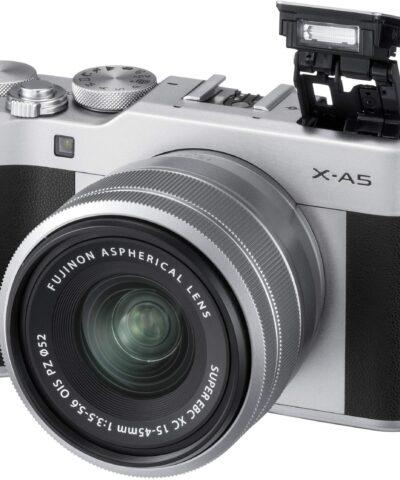 Fujifilm X-A5 + 15-45mm Kit, hõbedane