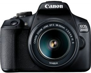 Canon EOS 2000D + 18-55mm IS II Kit, must